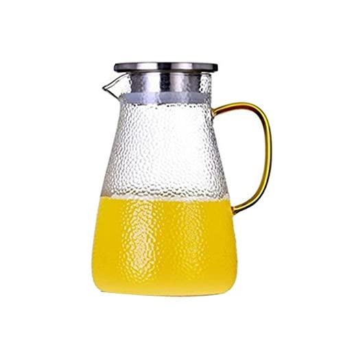 Jarras para Agua Agua fría Jarra Jarra de té Borosilicato Jugo de Vidrio Juguete Bebida Caldera Carafe Capacidad para Jugo,Bebida,Leche (Color : Clear, Size : 1500ml)