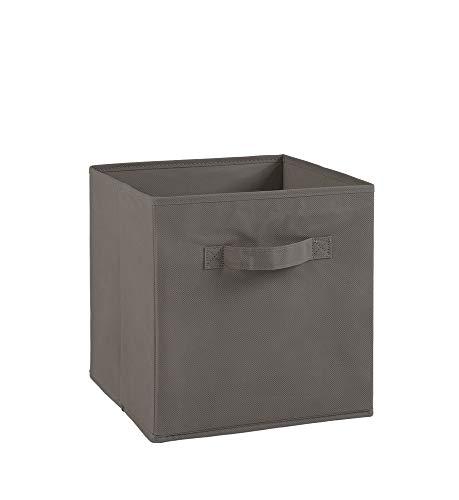 Alsapan Compo Boîte de Rangement Tiroir avec Poignée en Tissu Gris 27 x 27 x 28 cm
