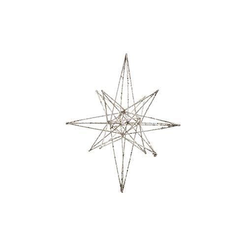 House Doctor, Adornos de Metal con Forma de Estrella, Color champán, 21 x 35 cm