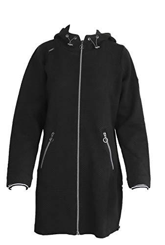 Soquesto Damen Sweatjacke mit Reißverschluss 6220-501353 schwarz (M)