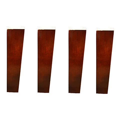 Sofabeine, Massivholzmöbel-Stützbeine, Kommodensesselfüße, Ersatzschrankfüße, Trapez-Kieferncouchbeine, für Bettaufsteher, Osmanisch, Tisch, mit Montageplatte und Schrauben (15 cm)