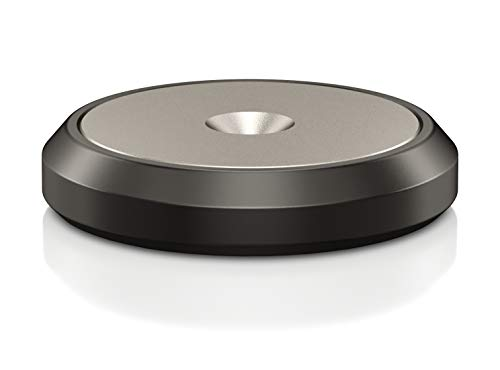 VIABLUE Discs XL für QTC und HS * Set 4 Stück * 2-teilige Discs * schwarz mit Edelstahlinlay * Unterlegscheiben für Spikes, Auflageteller * Ø 25 mm