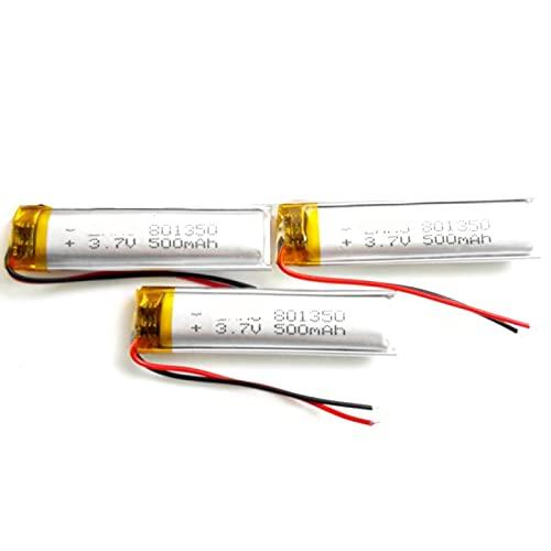 3 Uds 3.7 v 500 Mah PolíMero De Litio 801350 Batería Recargable,...