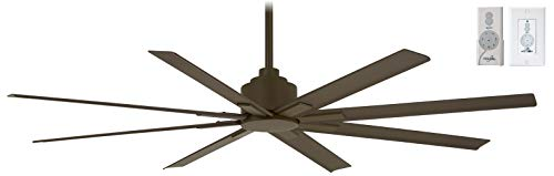"""Minka-Aire F896-65-ORB Xtreme H20 65"""" Outdoor Ceiling Fan with Remote and Wall Control, Oil Rubbed Bronze Finish"""