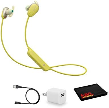 Sony WI SP600N Wireless Bluetooth Noise Canceling in Ear Sports Headphones Yellow Kit with USB product image