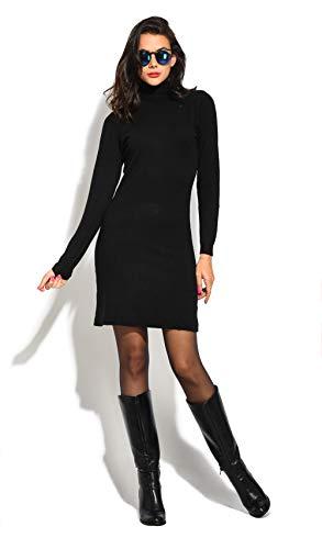 William De Faye Vestido Punto Roule M/L Negro 2XL