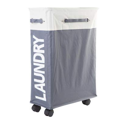 LLDKA Wasmand met standaard Opvouwbare waterdichte sorteerder en organizer op wielen