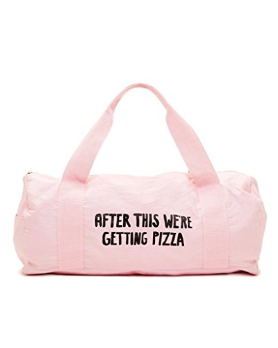 ban.do Work It Out After This We're Getting Pizza Gym Bag