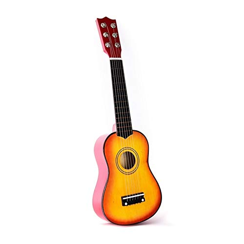 Neue Ukulele 21-Zoll-Ukulele-Sopran-4-Saiten Hawaiian-Fichten-Basswood-Gitarre-Saiten-Instrument ( Color : Yellow )