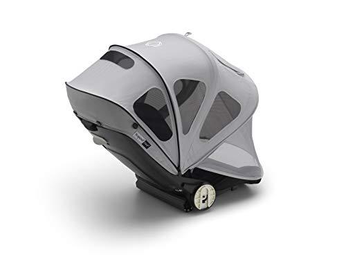 Bugaboo Bee capota ventilada - Capota extensible con protección solar UPF y paneles de malla ventilados, gris niebla