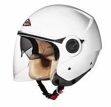 SMK Cooper Open Face Duel Visor Designer Helmet , COOPER WHITE GL100...