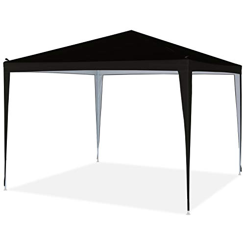 OUTDOOR WIND 10'x10' Outdoor Portable Lightweight Folding Instant Pop Up Gazebo Canopy Shade Tent with Carrying Bag(Black)