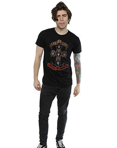 Guns N Roses Men's Appetite for Destuction Distressed T-Shirt Medium Black