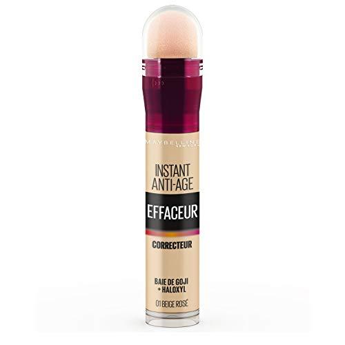Maybelline New York - Anti-cernes/Correcteur Fluide - Instant Anti-Age L'Effaceur - 01 Beige Rosé - 6,8 ml