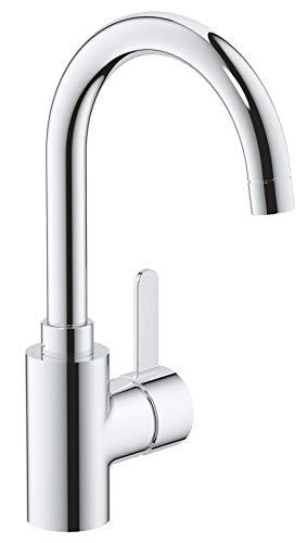 "Grohe Eurosmart Cosmopolitan - Grifo monomando para lavabo, DN 15, tamaño L, cromo, palanca metálica, (1/2"") (Ref. 23933001)"