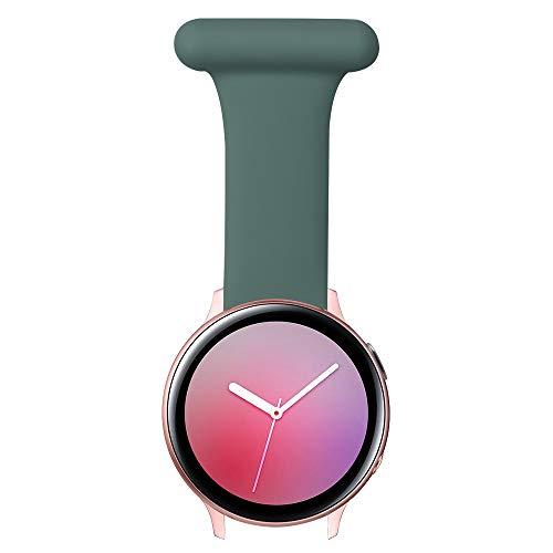 Vozehui Pin Fob Correa compatible con Samsung Galaxy Watch 3/Active 1,2 (40/44 mm)/Gear S2 Classic/Huawei Watch 2/GT2 42 mm con correa de diseño antiepidémico para enfermeras, paramédicos, médicos