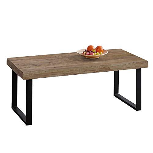 Adec - Natural, Mesa de Centro, Mesita de Comedor, Color Roble Boreal y Negro, Medidas: 60 cm (Ancho) x 120 cm (Largo) 43,5 cm (Alto)