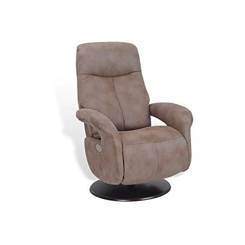 MND MY NEW DESIGN, TOLMA, Moderno sillón eléctrico de relajación, Joven, cómodo y fácil de Usar (Chocolate, microstar)