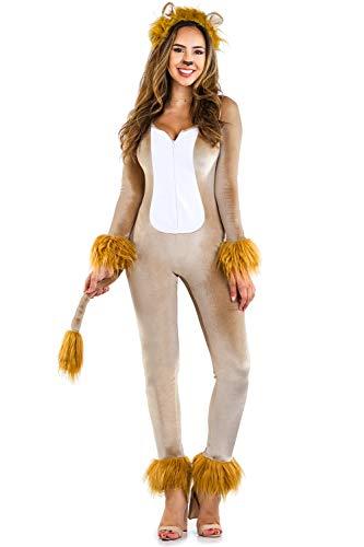Tipsy Elves Women's Lion Bodysuit - Lion Halloween Costume: S