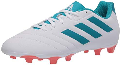 adidas Women's Goletto VII FG W Sneaker, FTWR White/Energy Blue/Easy Coral, 5.5 M US