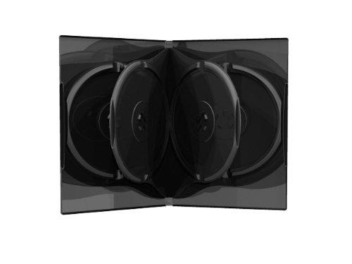 10 DVD CD Hüllen 6fach 6er-DVD-Box 21mm schwarz