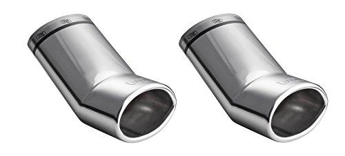 Preisvergleich Produktbild CARTUNER Duplex Auspuffblende Endrohre SET Edelstahl 95x65mm oval