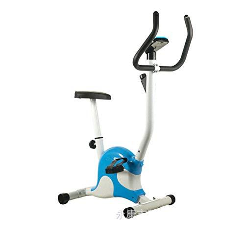 LSYOA Indoor hometrainer, fitness bike hometrainer fiets met LCD-monitor, instelbaar fietszadel fitnessapparaat