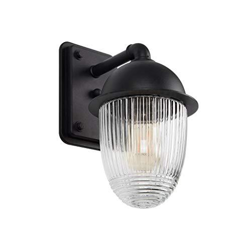 BUYAOBIAOXL Lámpara de Pared Retro Lámpara De Pared Impermeable A La Oxidación Prevención Bola De Vidrio Exterior De La Pared Exterior Pasillo Luz Lámpara De Aluminio