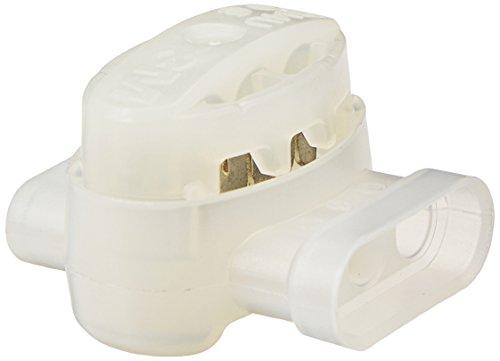 3M Scotchlok Electrical IDC (Insulation Displacement Connector) 314U-Box, Pigtail, Self-Stripping, White, 22-14 Awg, Pack of 50
