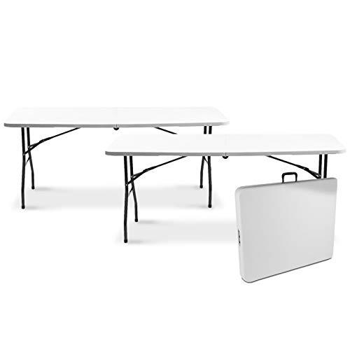 IDMarket - Lot de 2 Tables Pliantes Portables pour Camping ou réception 180 cm
