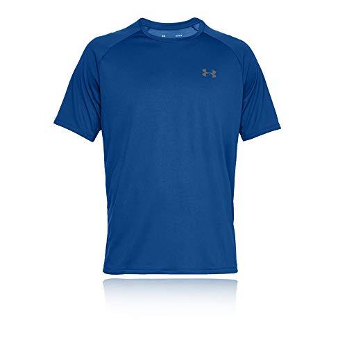 Under Armour Tech 2.0 Shortsleeve, atmungsaktives Sportshirt, kurzärmliges und schnelltrocknendes Trainingsshirt mit loser Passform Herren, Royal / Graphite , L