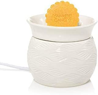 Yankee Candle Home Collection Ivory Pleated Electric Wax Melts Warmer