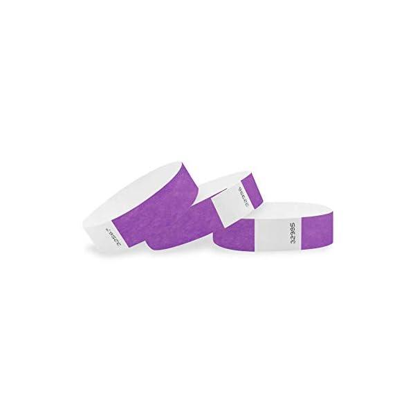 WristCo Purple 3/4 inch Tyvek Wristbands