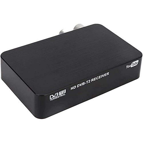 Yuyanshop Mini HD Set-top Box DVB-T2 K2 WiFi receptor terrestre caja de TV digital + control remoto 100-240V (US)