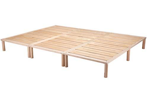 Gigapur G1 29807 Bett | Co-Sleeping | Birke Natur Schicht-Holz | belastbar bis 195 kg je Element | 300 x 200 cm