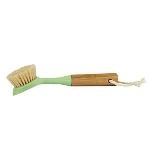 Bayda - 1 cepillo de bambú natural con mango de madera y cerdas rígidas ecológicas para la limpieza de platos