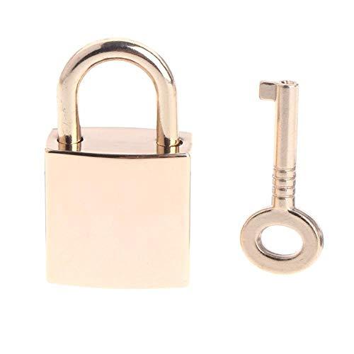 Slot Mini Archaize hangsloten sleutelslot met sleutel voor sieradendoos opbergdoos dagboek boek boek goud