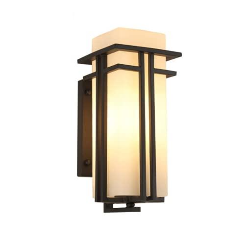 CHENXTT Moderna sencilla lámpara LED de pared exterior creativa lámpara de patio, nueva marcha china, impermeable, lámpara de pared exterior para balcón, mediana 15,4 x 20,3 cm.