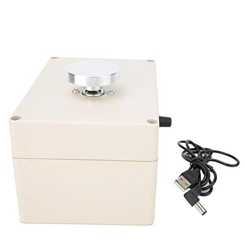 Mini rueda de alfarería para niños, 2000 RPM DIY 5 V USB dedo Mini máquina de rueda de alfarería eléctrica máquina de hacer arcilla máquina de cerámica con bandeja para manualidades de cerámica