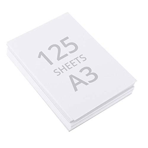 Aquarellpapier A3 - 125 Blätter Wasserfarben Zeichenblock aus Baumwollzellstoff Malblock Aquarell Papier – Ideal für Künstler, Anfänger, Malpapier zum Malen, Zeichnen, Skizzieren, für Kinder, 200gsm