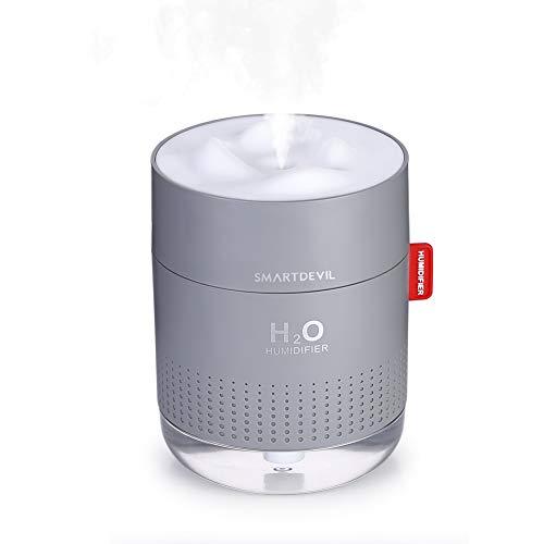 SmartDevil USB Luftbefeuchter 500ml,Mini Air Humidifier Ultra Leise luftbefeuchter-Bis 12-18 Stunden Dauerbetrieb,Automatische Abschaltung Tragbarer Luftbefeuchter, Ätherisches Öl verboten, 2 Filter