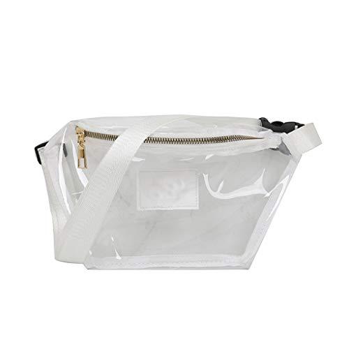 Siwetg Bolso De Cintura Transparente Mujer PVC Fanny