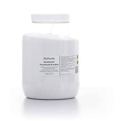 EluOecolo - Percarbonate de Soude 3kg - Oxygène actif <12% - avec doseur à lintérieur - Détachant & blanchissant