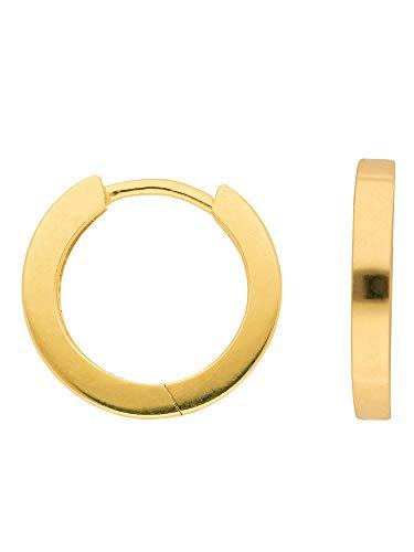 1 Paar Gold Ohrringe Creolen 14 k 585 Gelbgold Ø 1.52 cm