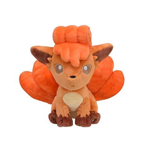 qwermz Stofftier, Tasche Monster Vulpix Plüschpuppe Kuscheltiere Spielzeug Niedliche Figur 14cm Kleines Kind Geschenk