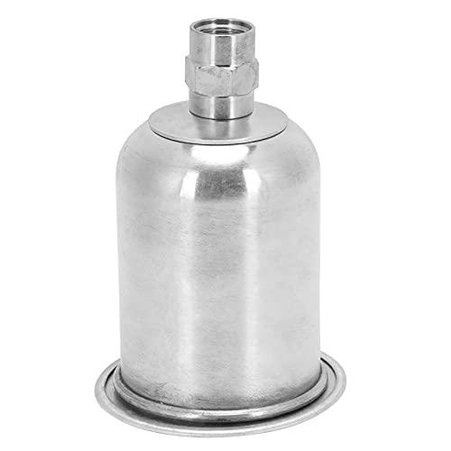 Reemplazo de la taza de la pistola pulverizadora 125ml Pulverizador de pintura Alimentación por succión Piezas de herramientas neumáticas Aleación de aluminio + Acero inoxidable