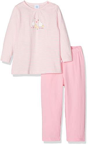 Sanetta Baby-Mädchen Pyjama Long Zweiteiliger Schlafanzug, Rosa (scampi 3950), 74