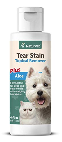 NaturVet Gentle Water Based TOPICAL TEAR STAIN REMOVER For Dogs & Cats 118 ml