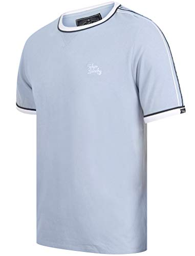 Tokyo Laundry da Uomo Huson Girocollo Ringer T-Shirt - Kentucky Blu, S