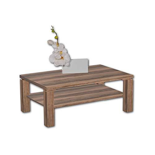 Rubik - Mesa de café con Aspecto de Madera Satinada, espaciosa Mesa de sofá con Estante para tu Sala de Estar, 110 x 43 x 70 cm